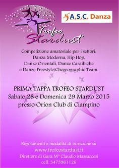 Il Trofeo Stardust A.S.C. è una manifestazione artistica e sportiva aperta agli allievi delle scuole di ballo e danza di tutta Italia. E' una competizione amatoriale organizzata a Circuito e si pone l'obiettivo di far avvicinare un maggior numero di persone al mondo della danza sportiva in un clima di allegria e professionalità