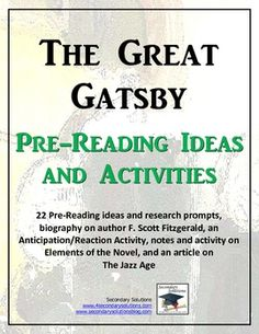The Great Gatsby Vocabulary Lists & Quizzes: Literature Activity ...