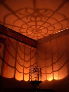 Black Window in Web Tank-O-Lantern