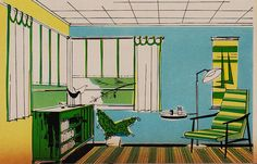 Birds on the sideboard 1960