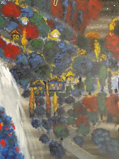 """The Enchanted Village"" Painted By Fadi Abu-Deeb"