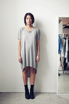 Curved Hem T Dress - Leilanni