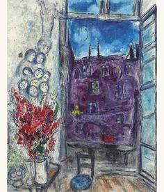 'La Fenêtre' (A Window), 1959 - Marc Chagall.