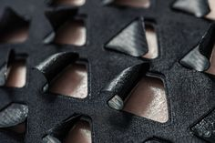 Bio Skin - heat reactive fabric with perforated triangle pattern; innovative textiles for fashion // MIT Media Lab Smart Textiles, E Textiles, Textile Intelligent, Massachusetts, Smart Materials, You're Hot, Fitted Suit, Wearable Technology, Fashion Technology