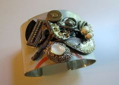RePurposed Car Tag Cuff Bracelet by BonBonsandBaubles on Etsy, $25.00