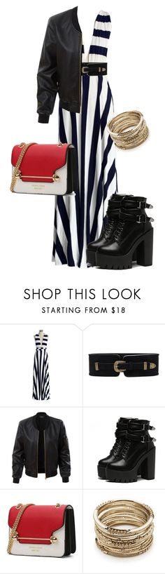 """Stripes"" by maize-xx on Polyvore featuring Chicwish, Lovestrength, LE3NO and Sole Society"