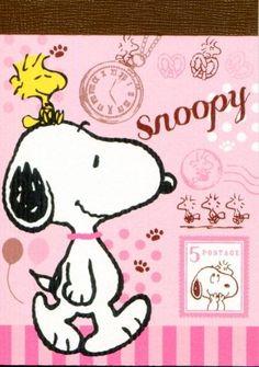 Peanuts Snoopy 2 Design Mini Memo Pad #5 (M1225)