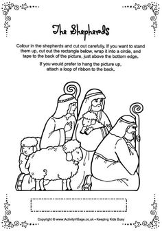 has all parts of the christmas story to color or make into a nativity set or