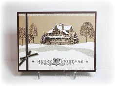 Christmas Lodge in Browns by Cards4Ever - Cards and Paper Crafts at Splitcoaststampers