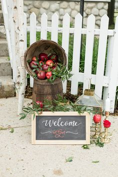 Apple Decorations, Fall Wedding Decorations, Red Fall Weddings, Bobbing For Apples, Apple Theme, Copper Wedding, Red Apple, Goodies, Meghan Mccarthy