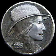 James Stewart Hobo Nickel, Buffalo, Classic Style, Cactus, Coins, Carving, Art, Succulents, Art Background