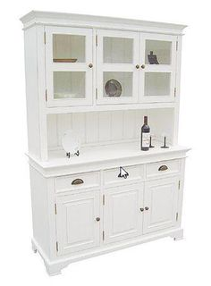 KRISTINA Triple Door Glazed Kitchen Dresser. I want something like this in the bedroom rather than a normal dressing table,