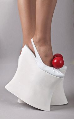 Stop standing on the table!  Sarajevo designer Belma Arnautovic silly-shoes-funky-footwear