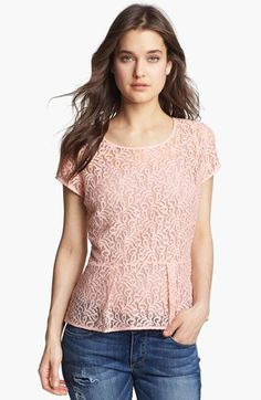 Hinge® Lace Peplum Top available at #Nordstrom