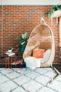 How To Properly Hang A Boho Rattan Egg Chair