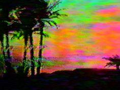 sunset glitch view