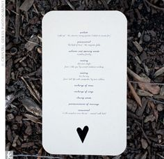 DIY Wedding Program ideas