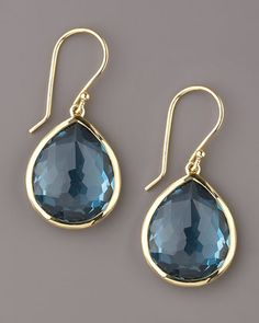 Medium Teardrop Earrings, London Blue Topaz by Ippolita at Neiman Marcus.
