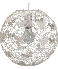 Lamp Shades At Argos: Buy Inspire Butterfly Wire Easyfit Pendant - Ivory at Argos.co.uk - Your ·  Lampshade ...,Lighting
