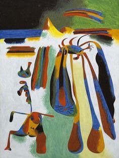 Joan Miró  Campesino catalán en reposo  1936. Óleo sobre cobre