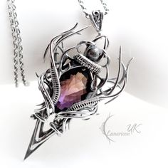 CRAAGHNAR - silver and ametrine. by LUNARIEEN.deviantart.com on @deviantART