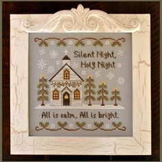 Country Cottage Needleworks - Silent Night - Cross Stitch Pattern