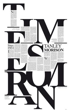 Typography in Typeface poster