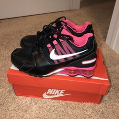 Nike Max 2016 Women's Air Running Shoes - 8 B(M) US, Black/Noble Red for sale online Next Shoes, On Shoes, Me Too Shoes, Slip On Sneakers, Air Max Sneakers, Nike Sneakers, Sneakers Fashion, Nike Shox Shoes, Shoes