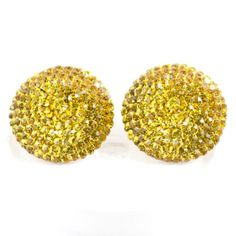 sparkly bold and stunning Round Swarovski Crystal Stud Earring