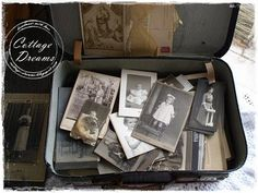 A suitcase full of old photos