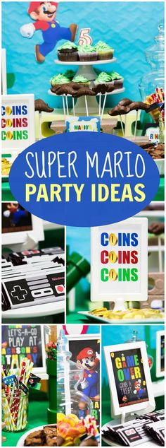 Mario Party Games and Activities Mario birthday party Birthday
