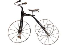 """Tricycle, C. 1910-""""Pioneer"""" tricycle from The Gendron Wheel Company."""