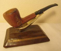 Vintage Yello Bole Imperial Half Bent Freehand Rustic Estate Briar Tobacco Pipe