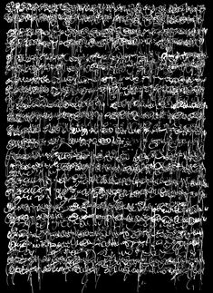 Jean-Christophe Giacottino - Asemic writing work (Having no specific semantic content, Writing without words . The form without the sense - Secret talismanic writings. Coffee Machine Design, Writing Art, Writing Ideas, Alphabet, Black And White Abstract, Mark Making, Calligraphy Art, Graphic, Installation Art