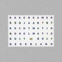netherlands postage stamp 1997 Postage Stamp Design, Postage Stamps, Irma Boom, Penny Black, Graphic Design Inspiration, Travel Posters, Mint, Lettering, Writing
