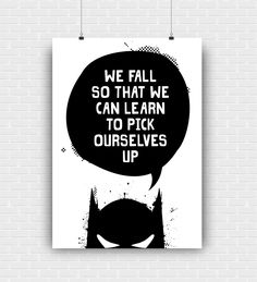 Batman art print wall decoration quote. Superhero illustration. High quality graphic design poster. Comic and movie hero instant download. by GraphicCorner on Etsy