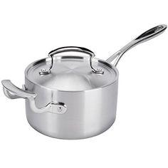 Vollrath 49414 Miramar Display Cookware 2 Qt. Sauce Pan / Butter Warmer with Helper Handle