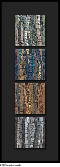 "© 2012 Jacqueline Iskander Marble, porcelain, mosaic gold, broken china, sodalite, turquoise, malachite, onyx  4"" x 4""   10cm x 10cm"