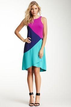 Rachel Roy: Sleeveless Colorblock Dress.
