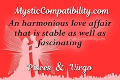 Virgo And Pisces Compatibility, Love Affair, Horoscope, Mystic, Zodiac Signs, Astrology, Star Constellations, Horoscopes, Zodiac Mind