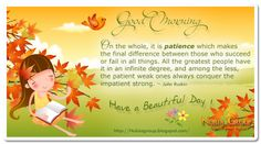 Nice Good Morning Quotes | Nice quotes to start your Day ! (26/10) on Patience