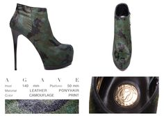 Ágave doesn't need to fight to be the nicest one! This beautifull heeled bootie made of militar print suede, comes from a warrior heart, and it will be the best way to fill your days with strength and style.   ONLINE STORE: bymareshoes.com