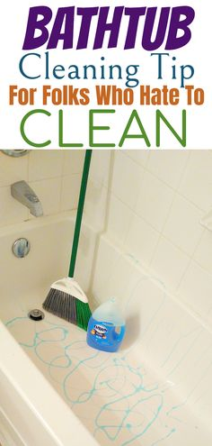 Cleaning Crew, Diy Home Cleaning, Bathroom Cleaning Hacks, Homemade Cleaning Products, Household Cleaning Tips, House Cleaning Tips, Natural Cleaning Products, Cleaning A Bathtub, Spring Cleaning