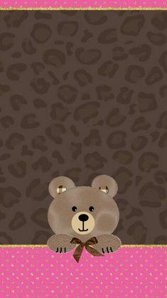 Gold Wallpaper Background, Flower Phone Wallpaper, Bear Wallpaper, Wallpaper Iphone Disney, Wallpaper Backgrounds, Purple Crafts, Cute Wallpapers, Phone Wallpapers, Cute Teddy Bears