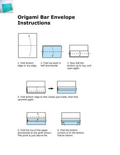 Origami Bar Envelope Instructions