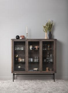 Decor, Wood, Storage, China Cabinet, Aarhus, Cabinet, Furniture, Home Decor