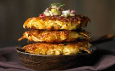 Celery Root   Fennel Latkes With Fennel-Pear Relish  http://www.rodalesorganiclife.com/food/celery-root-fennel-latkes-fennel-pear-relish?cid=soc_Rodale%2527s%2520Organic%2520Life%2520-%2520RodalesOrganicLife_FBPAGE_Rodale%2527s%2520Organic%2520Life__