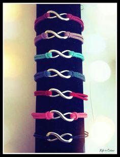 I nuovi colori dei bracciali con il simbolo dell' infinito!!!   #infinito #bracciale #colori #simbolo