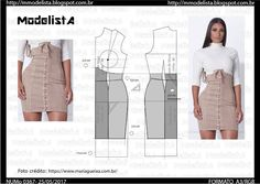 Amazing Sewing Patterns Clone Your Clothes Ideas. Enchanting Sewing Patterns Clone Your Clothes Ideas. Skirt Patterns Sewing, Clothing Patterns, Patterns For Dresses, Pattern Drafting Tutorials, Diy Clothing, Sewing Clothes, Fashion Sewing, Diy Fashion, Costura Fashion