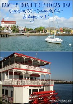 Family road trip inspiration along the East Coast of America featuring Charleston - South Carolina, Savannah - Georgia and St Augustine - Florida.  Article features the must see attractions along the way.